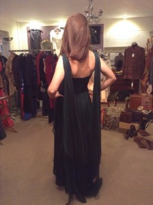Silk Chiffron Dark Green Evening Dress