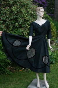 Black Evening Dress (Pattern Detail)