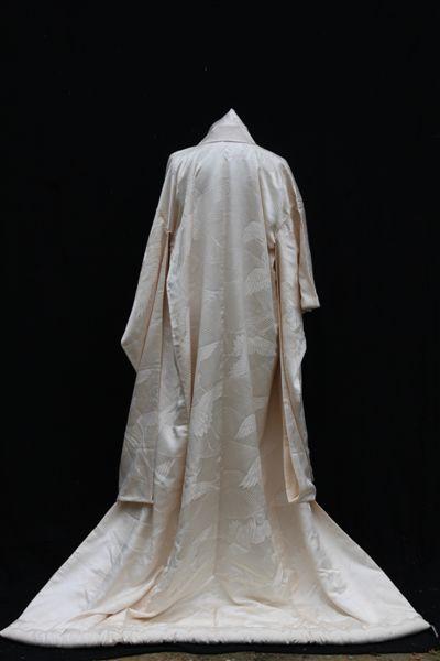 Cream silk matrimonial Kimono (Back)