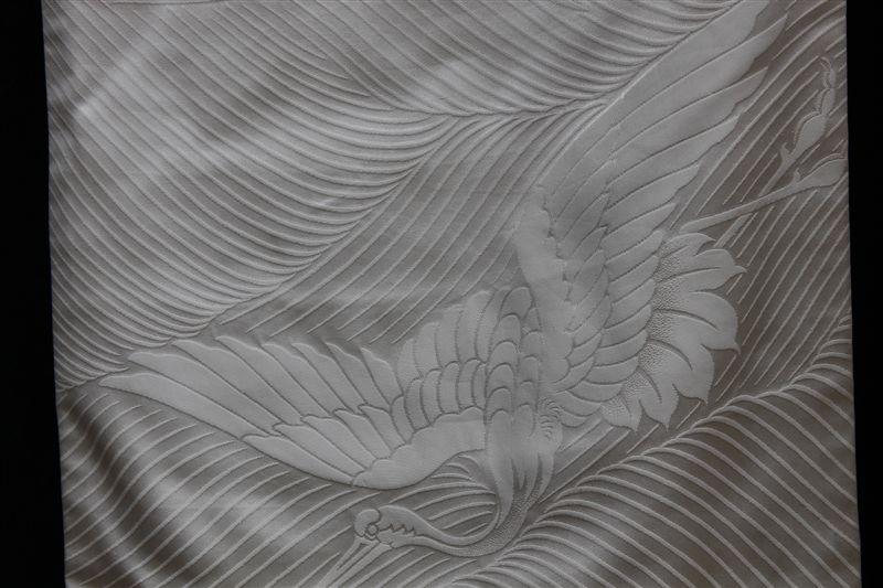 Cream silk matrimonial Kimono (Pattern)