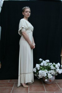 Edwardian Crepe de China Tea Gown