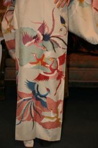 Kimono Cranes - Pattern Detail