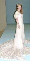 Stunning 1930s silk chiffon wedding dress with matching bolero jacket.  more info on email