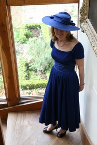 1950s  lapis blue dress